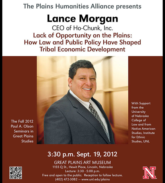 Lance Morgan to speak at the Great Plains Art Museum