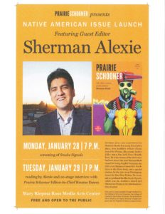 Sherman Alexie in Lincoln January 28-29, 2013