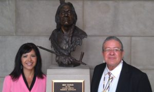 President Bryan Brewer of the Oglala Sioux Tribe met with NCIA Executive Director, Judi gaiashkibos while in town.