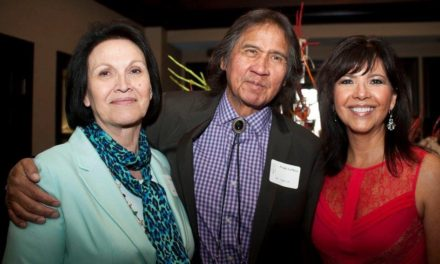 Frank LaMere, his wife Cynthia, and Judi M. gaiashkibos, Executive Director of Nebraska Commission on Indian Affairs Attend Fundraiser for St. Augustine's Mission School