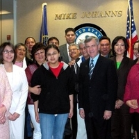 Nebraska Tribal Representatives Meet With U.S. Senator Johanns