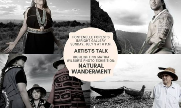 Special artist's reception on Sunday, July 9th at 6 p.m. at Fontenelle Forest meet Matika Wilbur and learn more about her fascinating work.