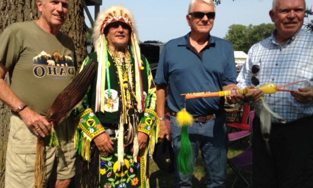 Omaha Tribe honors the Dr. Susan Board Advisory Committee at the 2018 Omaha Powwow