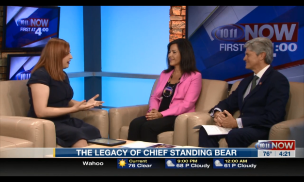 Executive Director Judi gaiashkibos appears on 1011 News to discuss Chief Standing Bear