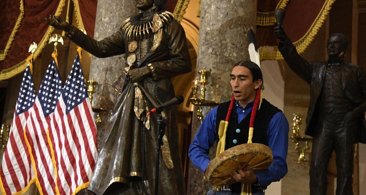 Chief Standing Bear Sculpture residing in the National Statuary Hall Unscathed