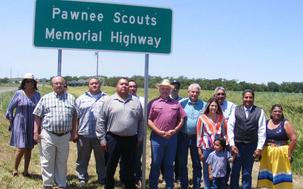 Pawnee Scouts Memorial Highway Dedication Ceremony Held June 12, 2021.